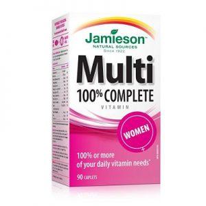 Multi 100% Complete Women - Suplemento Vitamínico - Jamieson - 90 cápsulas