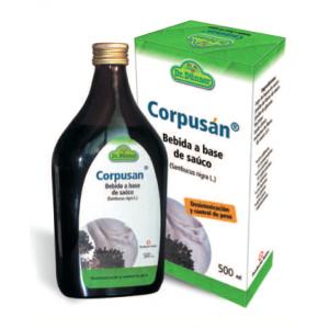 Corpusán es una bebida a base de saúco que ayuda a depurar el organism y es muy útil en las dietas de control de peso.