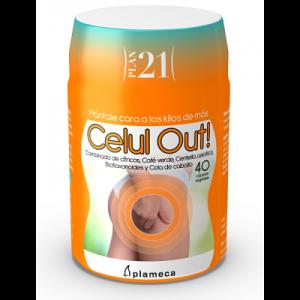 Celul Out! - Plan 21 - Anticelulítico - Plameca - 40 cápsulas
