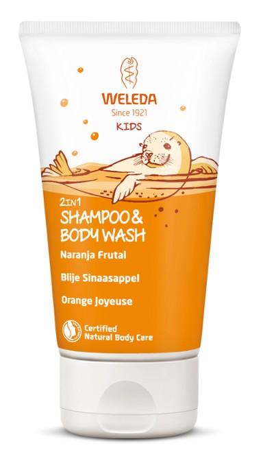 Champú y Gel 2 en 1 Kids - Naranja Frutal - Weleda - 150 ml