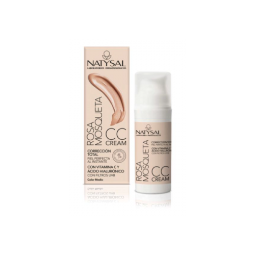 Rosa Mosqueta CC Cream - Color medio - Natysal - 50 ml